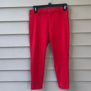 Red stretchy skinny jeans from Faded Glory. Sz M